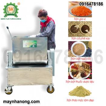 Máy trộn bộtngũ cốc, dược liệu Inox 3A2,2KW