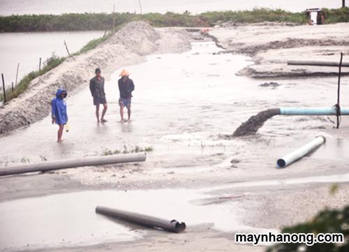 Xử lý bùn thải ao nuôi tôm cá thành phân hữu cơ
